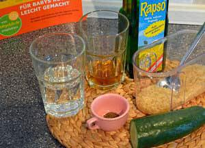 Zubereitung Gurke mit Reis