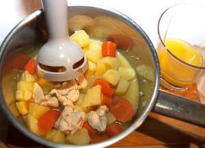 Zubereitung Möhre Kartoffel Kalb